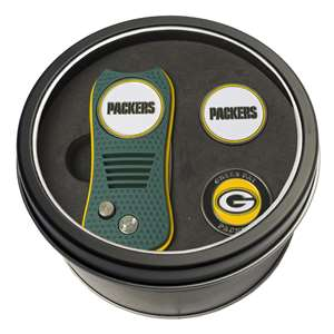 Green Bay Packers Golf Tin Set - Switchblade, 2 Markers 31059