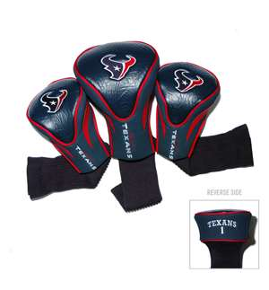 Houston Texans Golf 3 Pack Contour Headcover