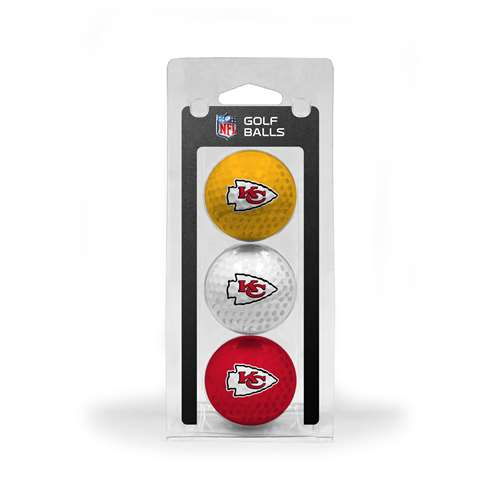 Kansas City Chiefs Golf 3 Ball Pack
