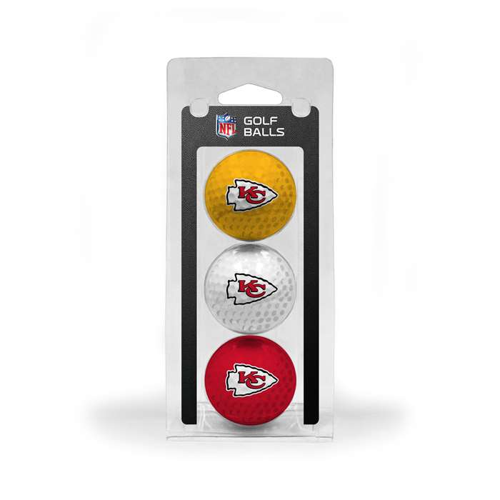 Kansas City Chiefs Golf 3 Ball Pack 31405