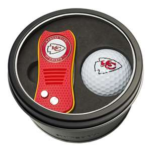 Kansas City Chiefs Golf Tin Set - Switchblade, Golf Ball