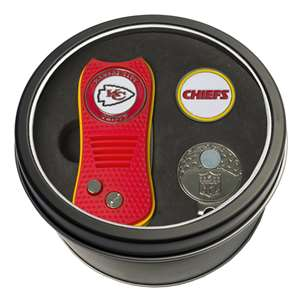Kansas City Chiefs Golf Tin Set - Switchblade, Cap Clip, Marker