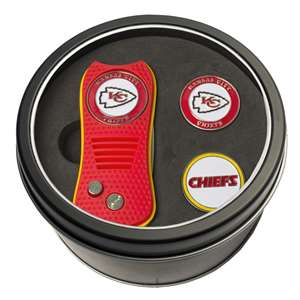 Kansas City Chiefs Golf Tin Set - Switchblade, 2 Markers