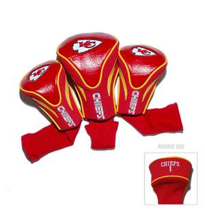 Kansas City Chiefs Golf 3 Pack Contour Headcover