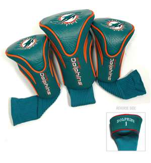 MIAMI DOLPHINS Golf Club Headcover Contour 3 Pack