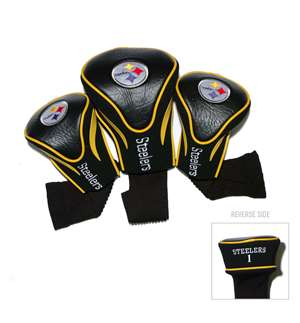 Pittsburgh Steelers Golf 3 Pack Contour Headcover