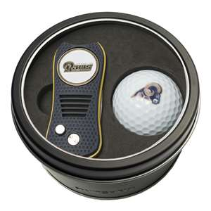 Los Angeles Rams Golf Tin Set - Switchblade, Golf Ball