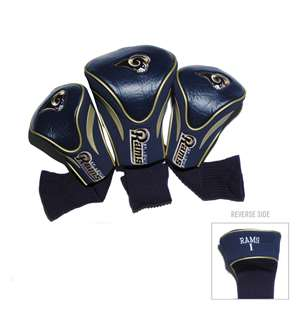 Los Angeles Rams Golf 3 Pack Contour Headcover