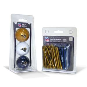Los Angeles Rams  3 Golf Balls And 50 Golf Tees