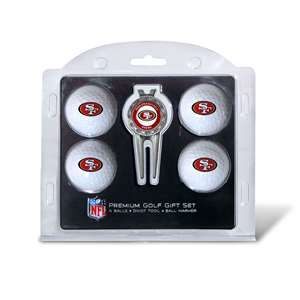 San Francisco 49ers Golf 4 Ball Gift Set 32706