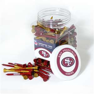 SAN FRANSISCO 49ERS Golf Tee - 175 Count Jar of Tees