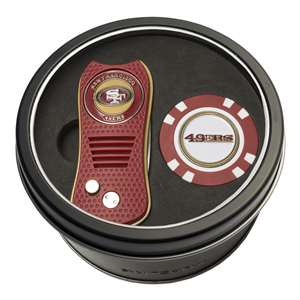 San Francisco 49ers Golf Tin Set - Switchblade, Golf Chip