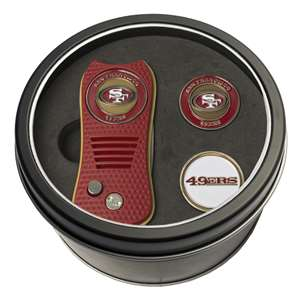 San Francisco 49ers Golf Tin Set - Switchblade, 2 Markers 32759
