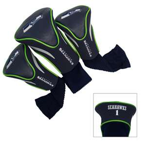 Seattle Seahawks Golf 3 Pack Contour Headcover