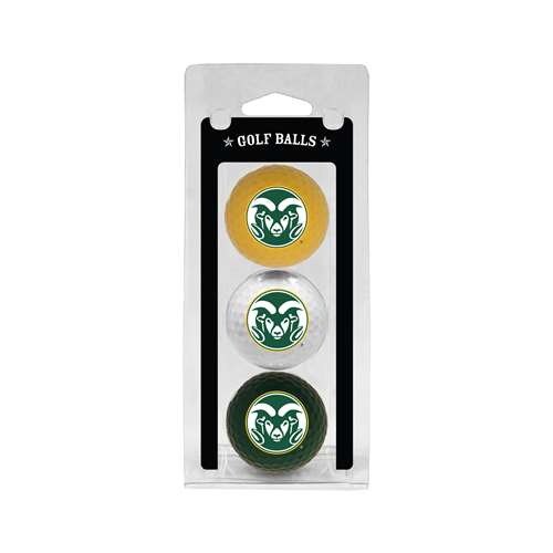 Colorado State University Rams Golf 3 Ball Pack