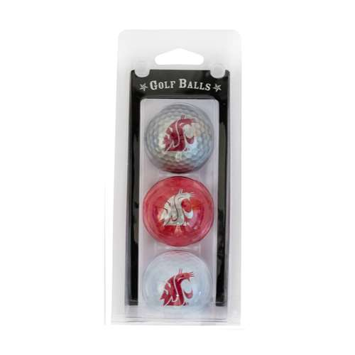 Washington State University Cougars Golf 3 Ball Pack 46205