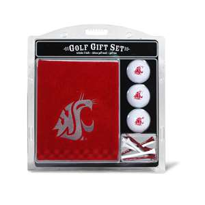 Washington State University Cougars Golf Embroidered Towel Gift Set 46220