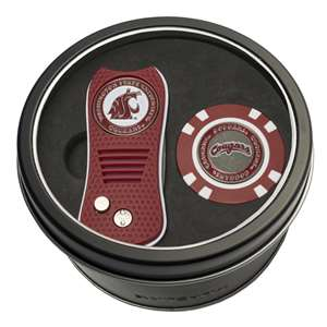 Washington State University Cougars Golf Tin Set - Switchblade, Golf Chip