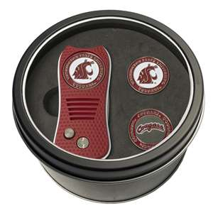 Washington State University Cougars Golf Tin Set - Switchblade, 2 Markers 46259