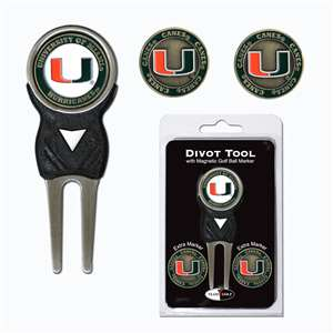 University of Miami Hurricanes Golf Signature Divot Tool Pack