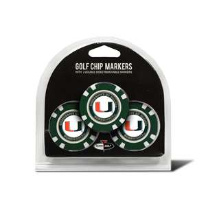 University of Miami Hurricanes Golf 3 Pack Golf Chip