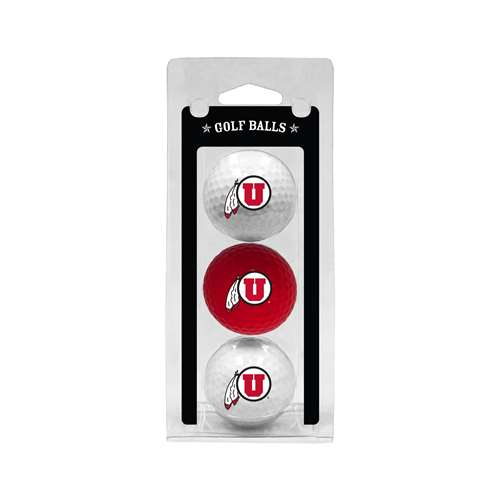 University of Utah Utes Golf 3 Ball Pack 80505