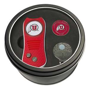University of Utah Utes Golf Tin Set - Switchblade, Cap Clip, Marker 80557