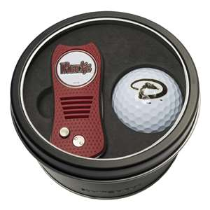 Arizona Diamondbacks Golf Tin Set - Switchblade, Golf Ball