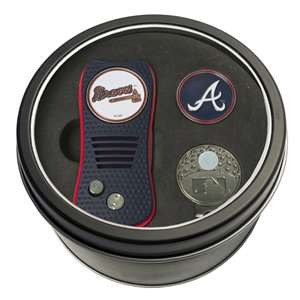 Atlanta Braves Golf Tin Set - Switchblade, Cap Clip, Marker 95157