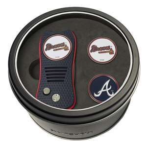 Atlanta Braves Golf Tin Set - Switchblade, 2 Markers 95159
