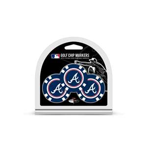 Atlanta Braves Golf 3 Pack Golf Chip