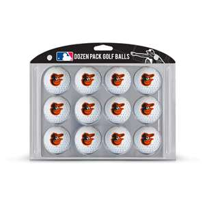 Baltimore Orioles Golf Dozen Ball Pack