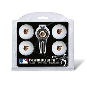 Baltimore Orioles Golf 4 Ball Gift Set 95206