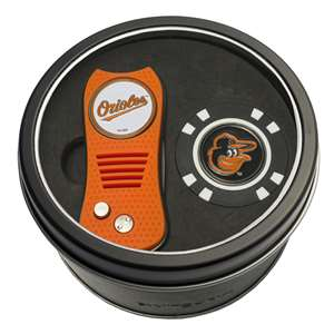 Baltimore Orioles Golf Tin Set - Switchblade, Golf Chip