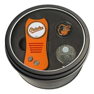 Baltimore Orioles Golf Tin Set - Switchblade, Cap Clip, Marker 95257