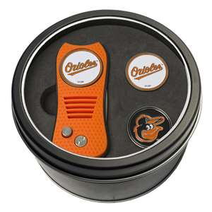 Baltimore Orioles Golf Tin Set - Switchblade, 2 Markers 95259