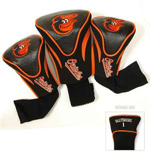 Baltimore Orioles Golf 3 Pack Contour Headcover