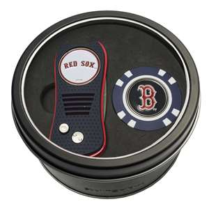 Boston Red Sox Golf Tin Set - Switchblade, Golf Chip