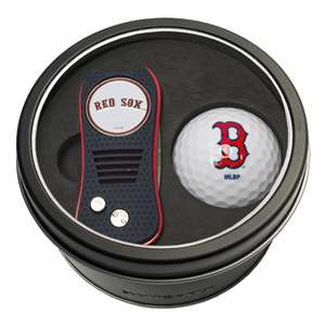 Boston Red Sox Golf Tin Set - Switchblade, Golf Ball