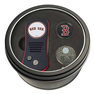 Boston Red Sox Golf Tin Set - Switchblade, Cap Clip, Marker