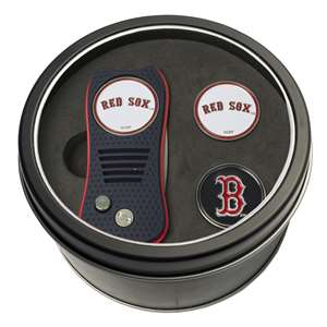 Boston Red Sox Golf Tin Set - Switchblade, 2 Markers