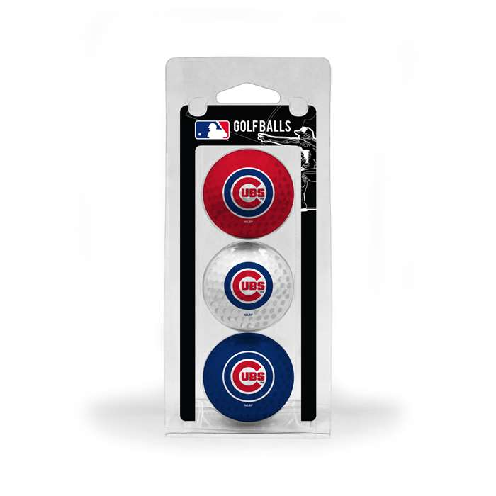 Chicago Cubs Golf 3 Ball Pack