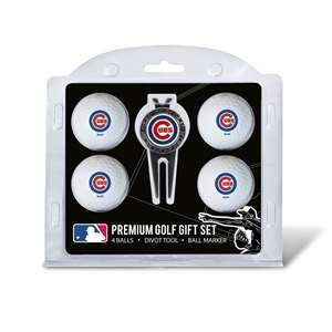Chicago Cubs Golf 4 Ball Gift Set