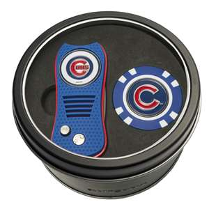 Chicago Cubs Golf Tin Set - Switchblade, Golf Chip