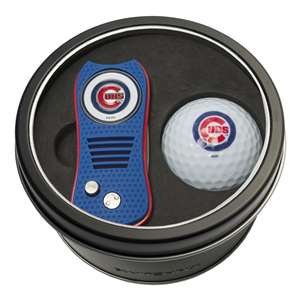 Chicago Cubs Golf Tin Set - Switchblade, Golf Ball