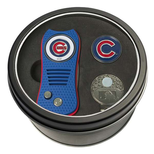 Chicago Cubs Golf Tin Set - Switchblade, Cap Clip, Marker