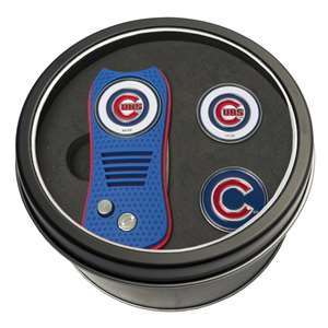 Chicago Cubs Golf Tin Set - Switchblade, 2 Markers