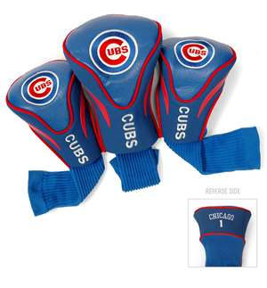 Chicago Cubs Golf 3 Pack Contour Headcover