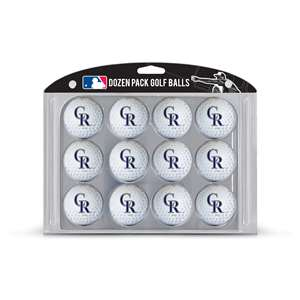 Colorado Rockies Golf Dozen Ball Pack