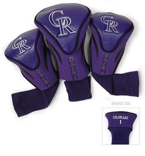 Colorado Rockies Golf 3 Pack Contour Headcover